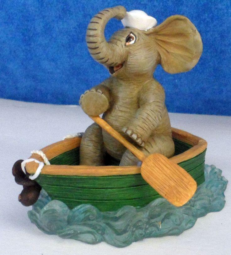 Hamilton MERRILY MERRILY Peanut pals Waterful Ways & Elephant Days Figurine E10