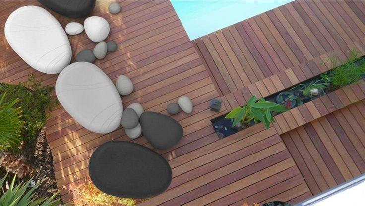 Pomysły na ogród poduchy kamienie
