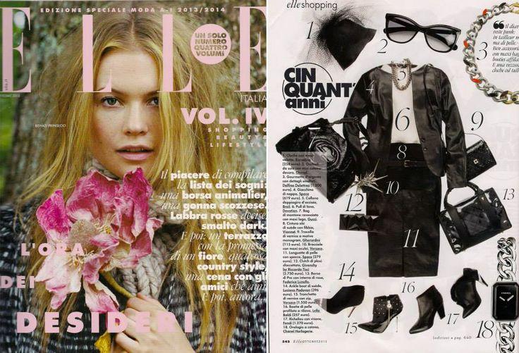 Elle Ottobre 2013 - redazionale su Elle www.federicalunello.com #federicalunello #bags #accessories #handmade #madeinitaly