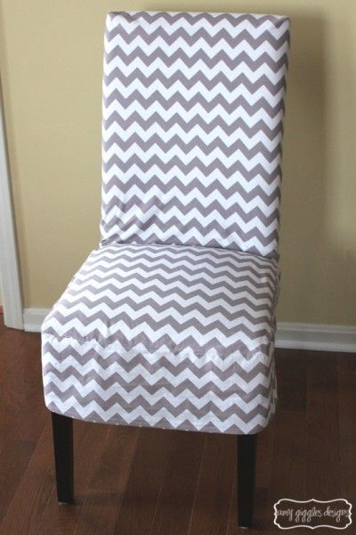 Chevron Chair Cover Longer Style Than I Made