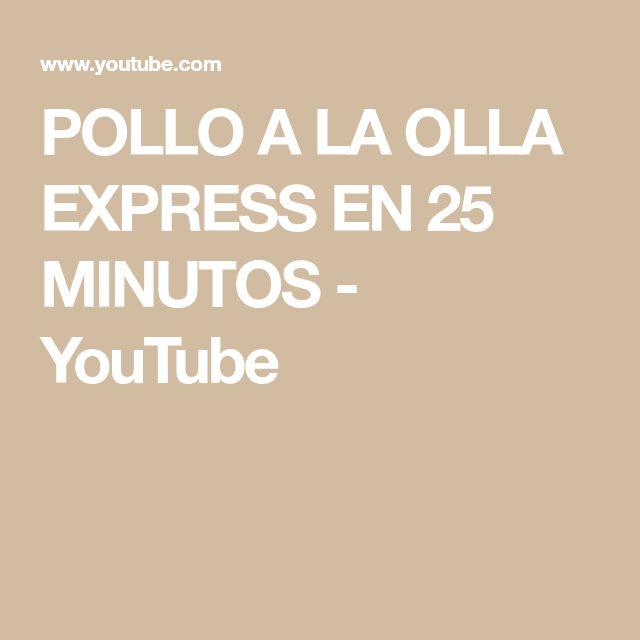 POLLO A LA OLLA EXPRESS EN 25 MINUTOS - YouTube