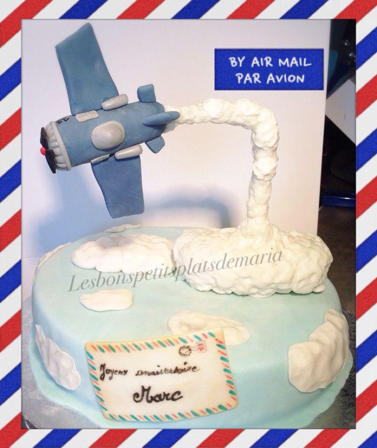 Gâteau Gravity Avion