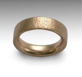 14K rose gold Mens and Womens hammered wedding band - simple gold ring - Our happiness via Etsy