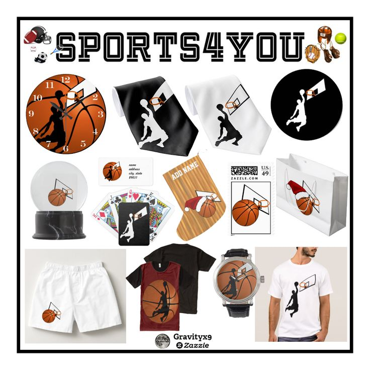 Basketball  Collection - Basketball themed gifts, clothing and more for sports fans, basketball players and coaches! by #Sports4you and #Gravityx9 Designs!