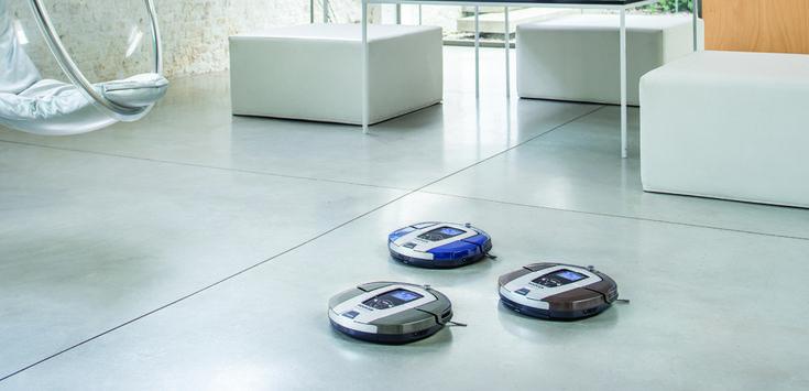 Nová generace robotických vysavačů značky Hoover s exkluzivní navigací AAI™, senzorem prachu a možností ovládání vysavače přes Wi-Fi síť.