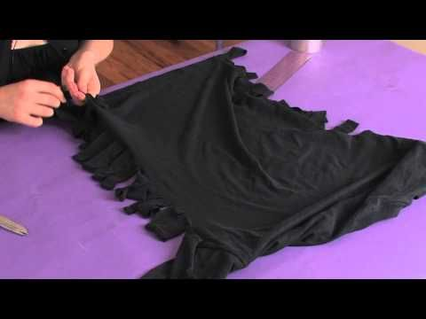 ▶ How to Restyle Your Big, Old T-Shirts With a Fringe on the Side : Shirt Modifications - YouTube