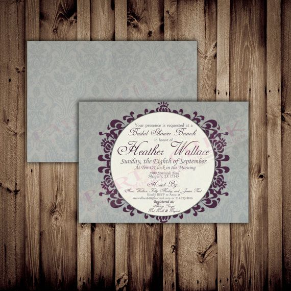 Damask Bridal Shower Invitations Digital By Partychickevents 14 99 That S What I Can Do