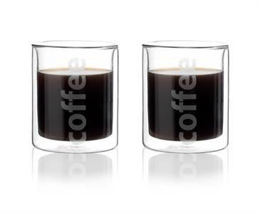 """Set de 2 tasses à café """" coffee """" double paroi de chez Viva scandinavia sur www.thekitchenette.fr/Produits/Details/659 #café #coffee #cup #tasse #doubleparoi"""