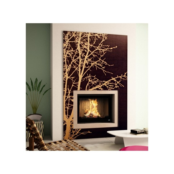 Cool looking fireplace from Seguin with tree brush @ inamus.com