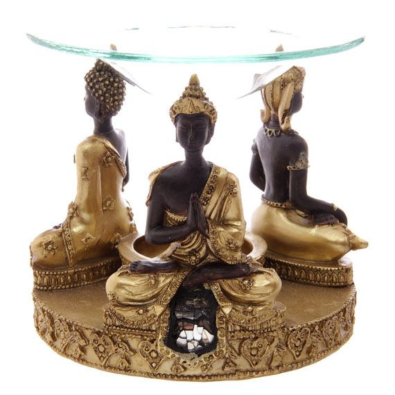Decorative Gold and Brown Thai Buddha Oil Burner by getgiftideas