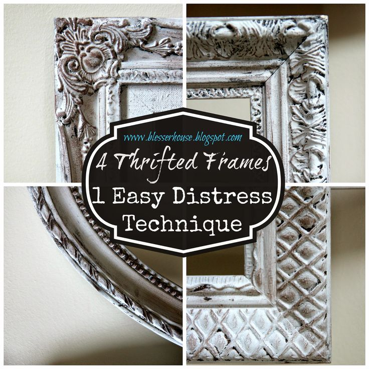 4 Thrifted Frames, 1 Easy Distress Technique | Bless'er House - This even works on plastic frames!