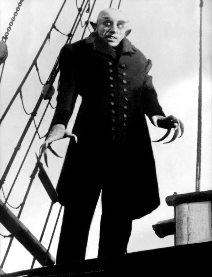 """Max Schreck (September 6, 1879 - February 20, 1936) as Nosferatu in """"Nosferatu, eine Symphonie des Grauens"""", 1922"""