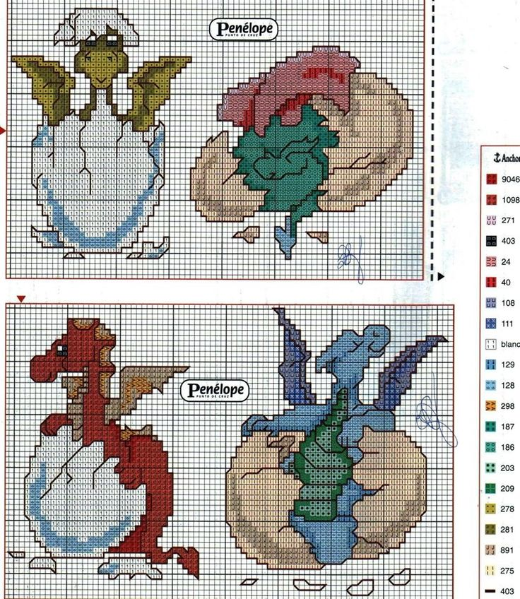Cross-stitch Dragon Hatchlings                                                                                                                                                      More