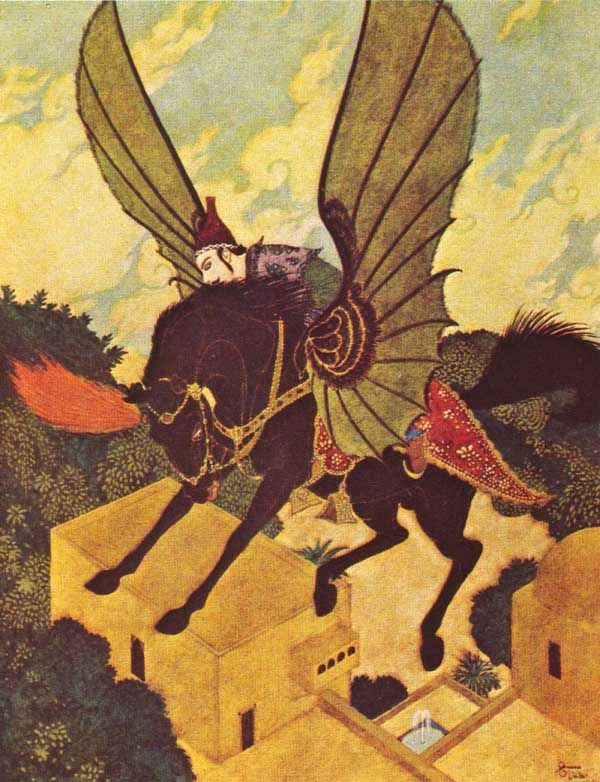 Riding the Winged Horse by Edmund Dulac