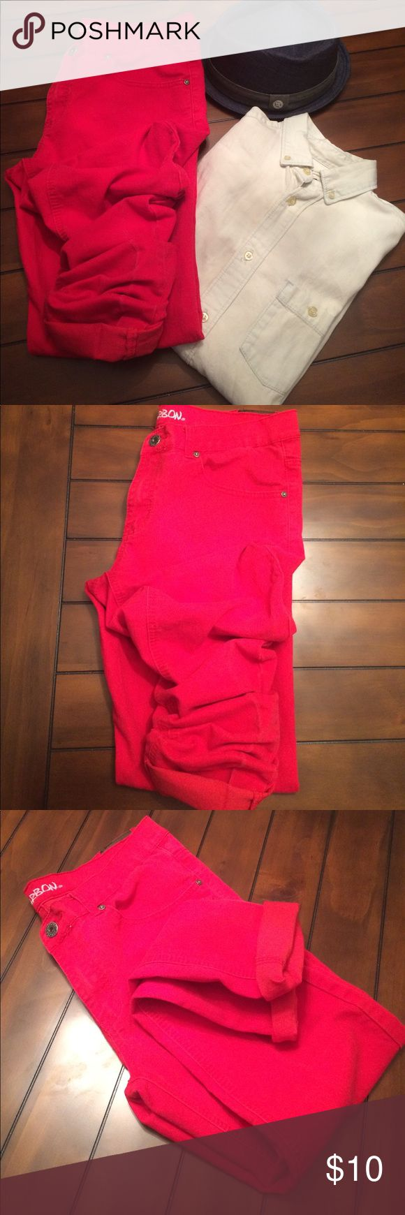 Rue21 skinny fit jeans 34x32 Make a bold statement with these red skinny jeans and make sure to pair it with your favorite neutral tee or button down for a nice casual look Rue21 Jeans Skinny