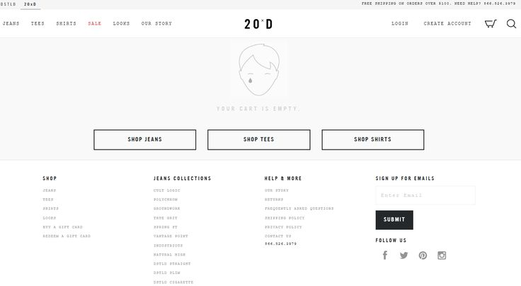 #ui #shopcart #cart #emptycart Empty cart at 20jeans.com