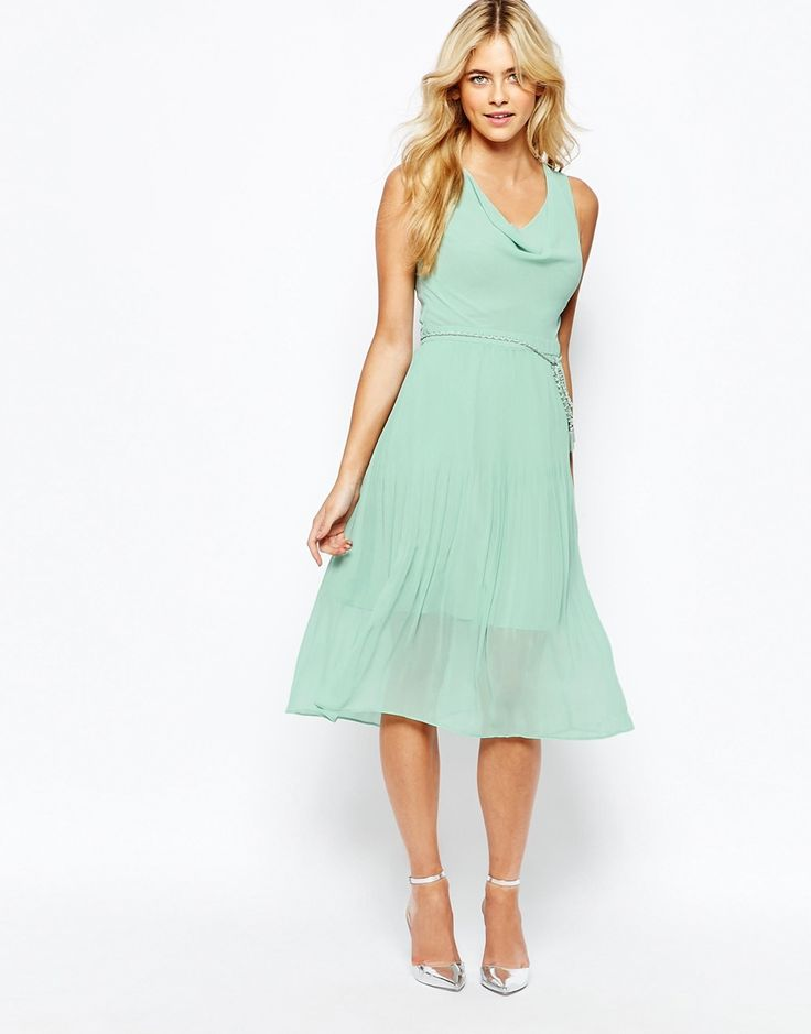 Oasis Pleat Detail Midi Dress