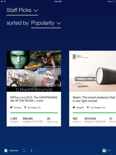 Kickstarter for iPhone | Pttrns