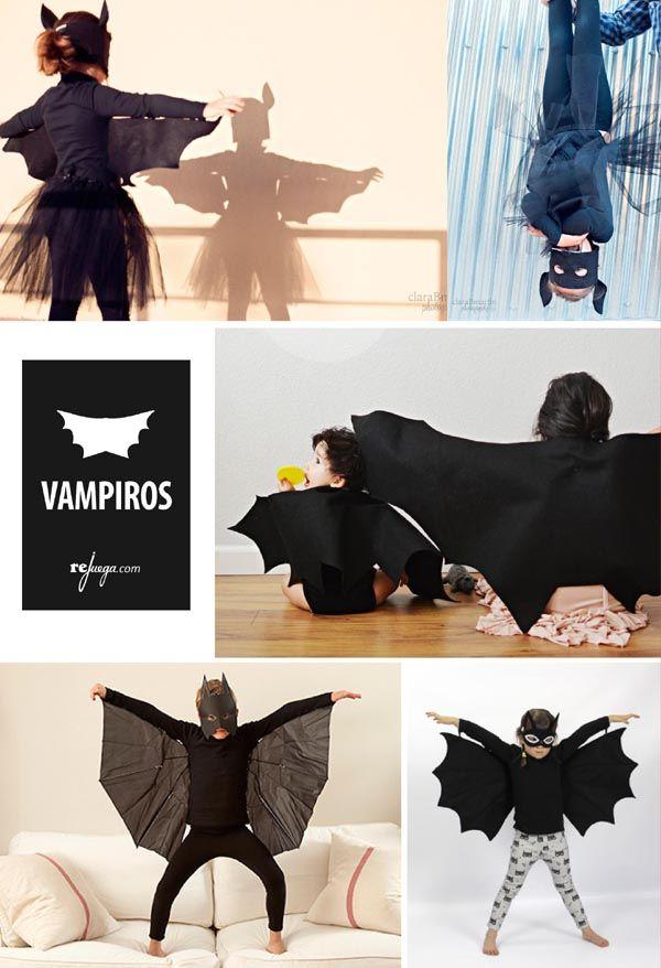 Disfraces de Halloween de murciélago para niños