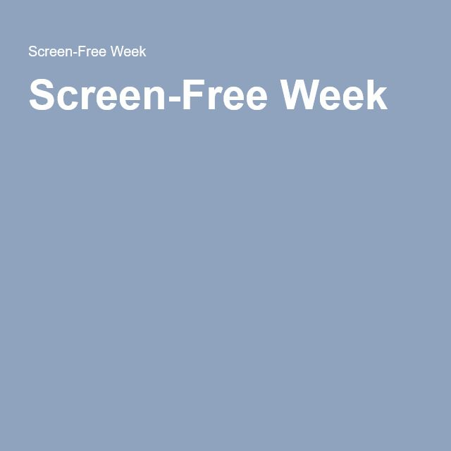A Screen-Free Week plus our normal screen-free Sundays..........I think i'll have to book one of these in.