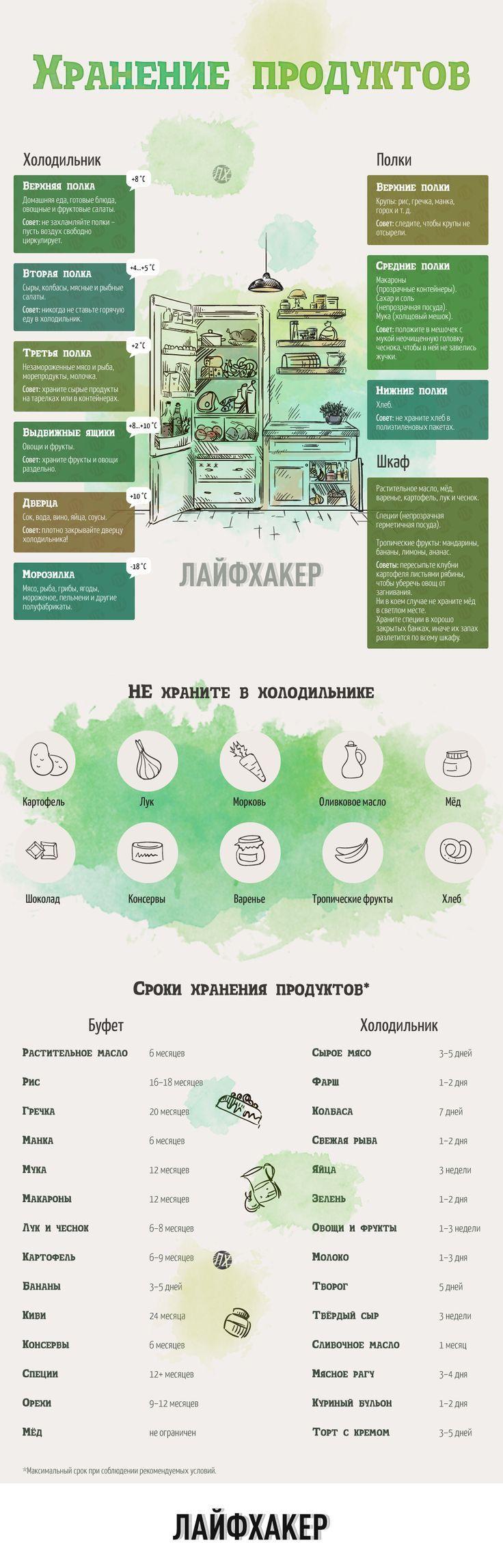 Как хранить продукты: сроки и температура:
