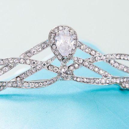 Luxury Rhinestone Women Crown Hairband Vintage Bridal Tiaras Wedding Accessory Women Party Pageant Crown