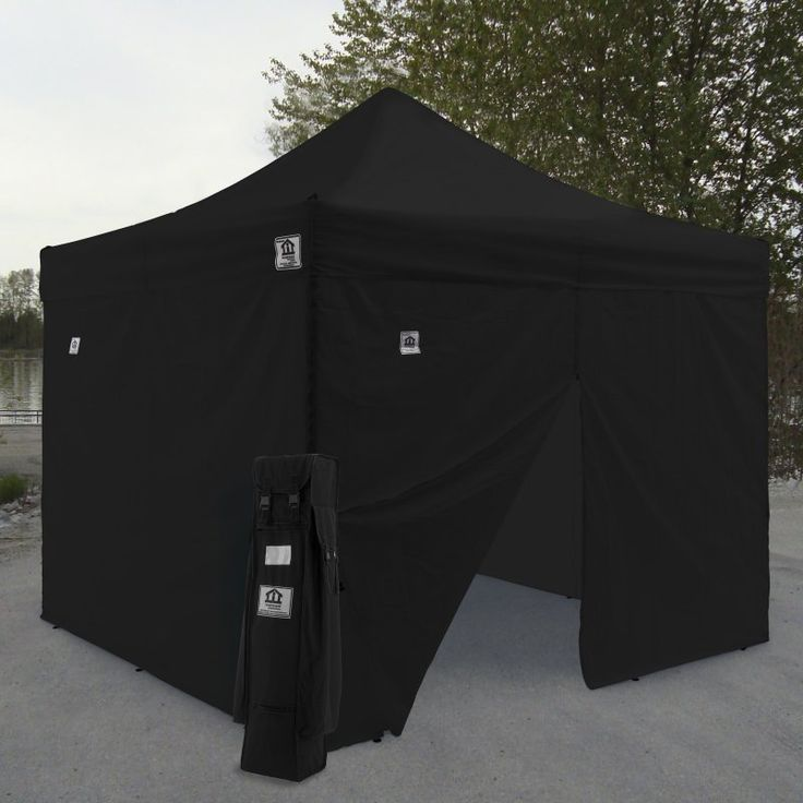 Impact Canopy AOL 10x10 ft. Ez Pop Up Canopy Tent Instant Canopy Aluminum with Wheeled Roller Bag and Sidewalls - AOLKITKG