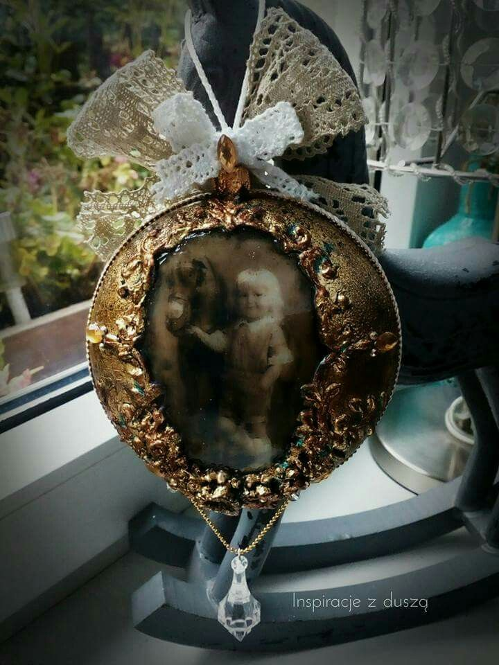#decoupage #christmas #vintage #baubles #handmade