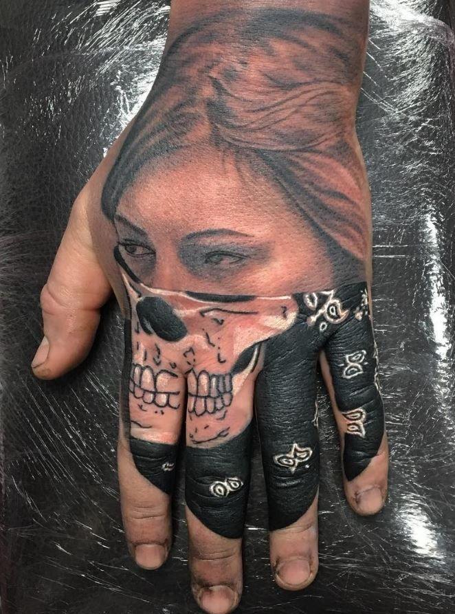 Gangsta Bandana Girl Tattoo
