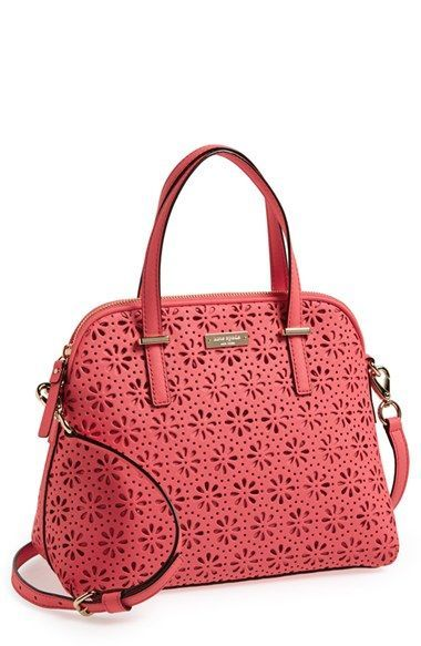 kate spade new york 'cedar street - maise' perforated leather satchel available at #Nordstrom