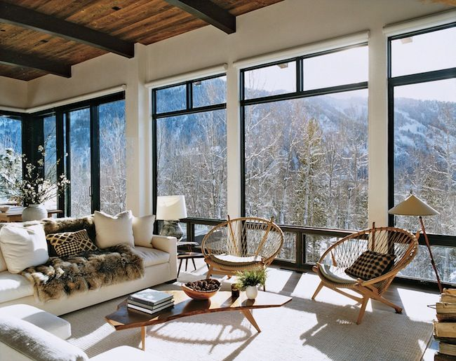 aerin lauder's aspen home.   love this..  how about in Park City...?