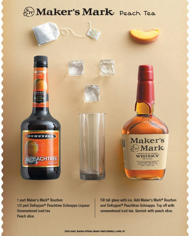 "Maker's Mark Peach Tea www.LiquorList.com ""The Marketplace for Adults with Taste!"" @LiquorListcom   #LiquorList"