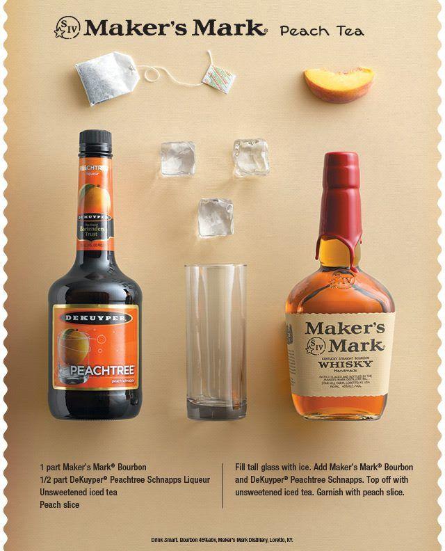 "Maker's Mark Peach Tea www.LiquorList.com ""The Marketplace for Adults with Taste!"" @LiquorListcom   #LiquorList"