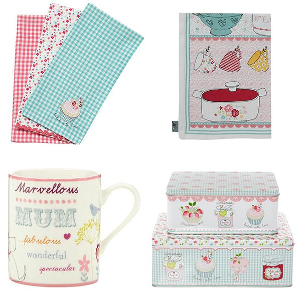 Ashley Thomas Kitchen Accessories Floral Pastel Designer Home Wares from Ashley Thomas
