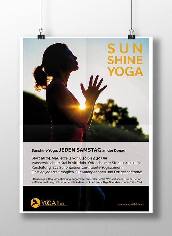Yoga is bliss - Sunshine Yoga on Behance | Yoga Flyer ...