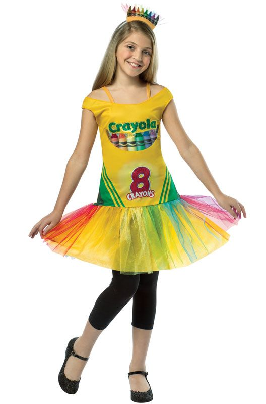 Crayola Crayon Box Tutu Dress Tween Costume (10-12) - PureCostumes.com