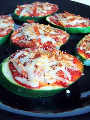 Zucchini pizza bites- These were so easy and so yummy. I recommend broiling zucchini slices 2 minutes, taking out, then adding all the toppings, putting back in to broil another 2 minutes or so. Whole family gobbled them up!