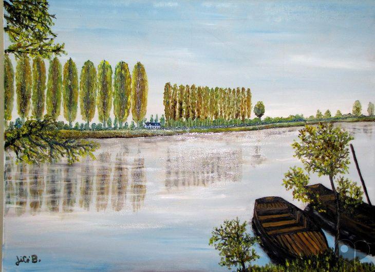 """Art Lover Place - Achetez la reproduction de l'oeuvre """" Paisible bord de laLoire """" (Art numérique) par JiCé B."""