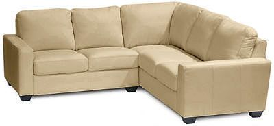 Asstd National Brand Leather Possibilities Track-Arm 2-pc.Right-Arm Corner Sectional