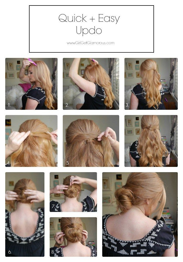 The 25 best quick easy updo ideas on pinterest easy hair styles the 25 best quick easy updo ideas on pinterest easy hair styles quick quick easy hairstyles and hair styles quick pmusecretfo Images