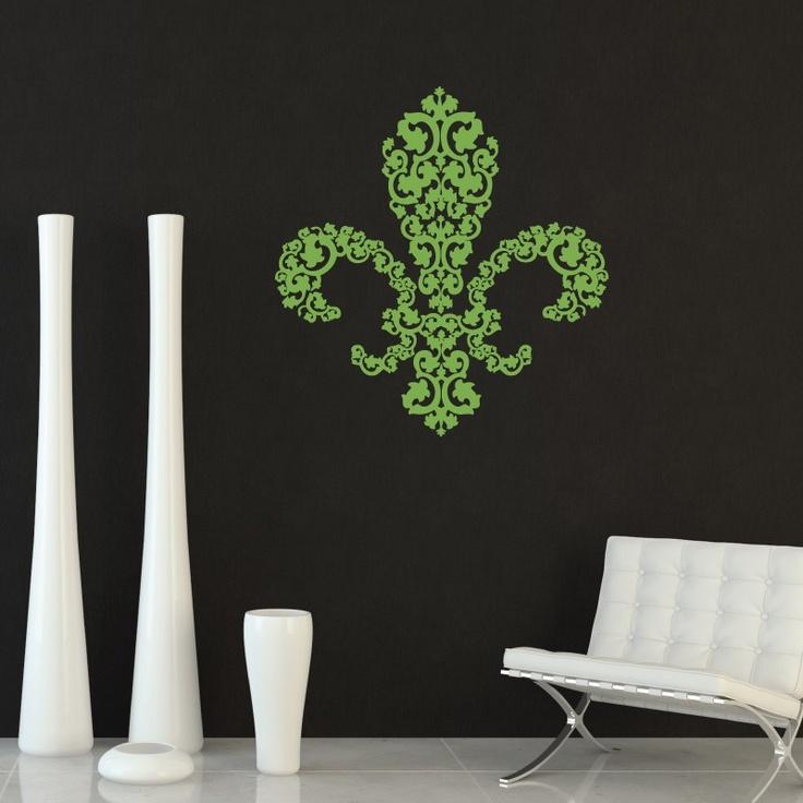 CLING | Bocage Fleur De Lis | Wall Art, Vinyl Wall Decals Part 91