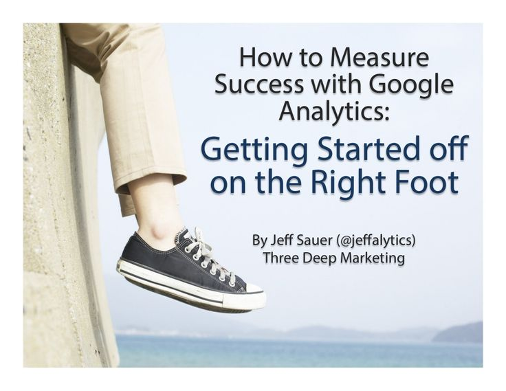 Google Analytics 101 for Business - How to Get Started With Google Analytics by Jeff Sauer via slideshare