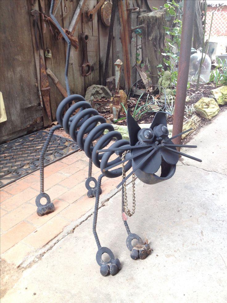 1000 images about scrap art on pinterest metal garden for Cat yard art