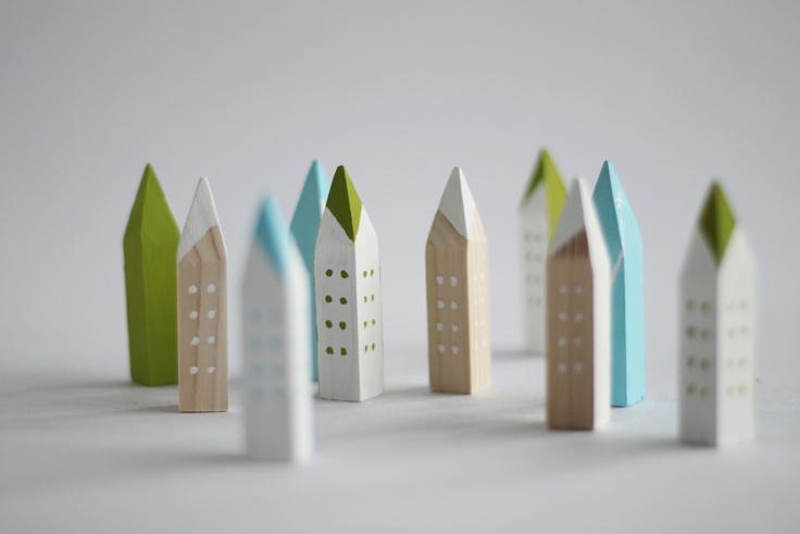 Pencil tip buildings.