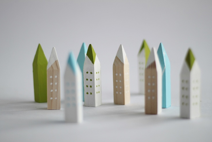 Pencil tip buildings.