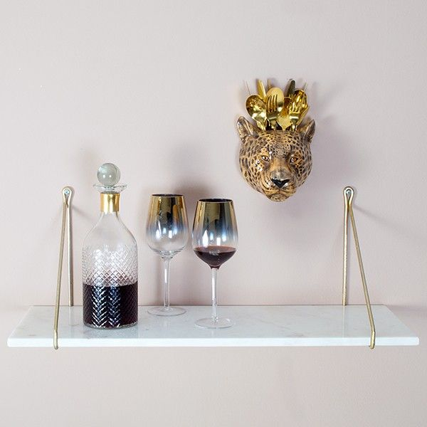White Marble Shelf (with brackets) - available from MiaFleur