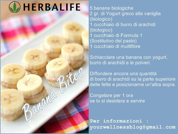 """""""Banana Bites"""" Ricette semplici ed originali per mangiare in modo sano con gusto."""