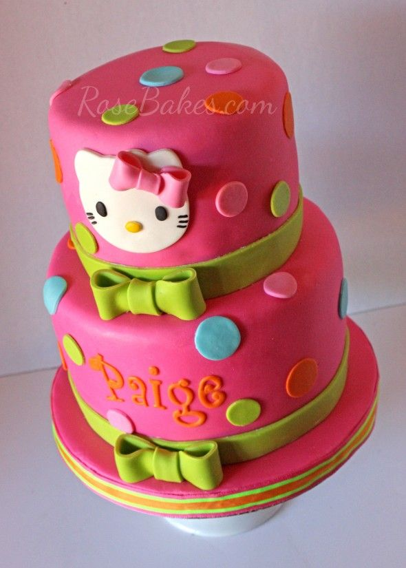 Hot Pink Hello Kitty Cake