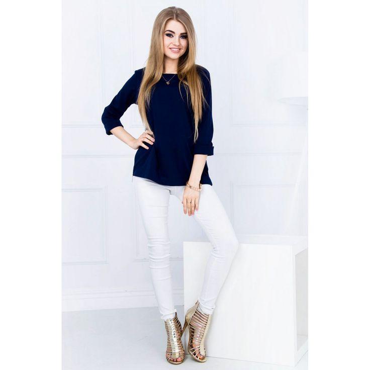 Bluza bleumarin de dama casual-eleganta #marimimari #bluzedama #pentrufemei #office #casual #promotii #cumparaonline