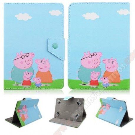 Funda infantil universal para tablet 7 pulgadas Pepa Pig